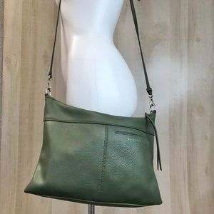Sancturay green leather bag crossbody